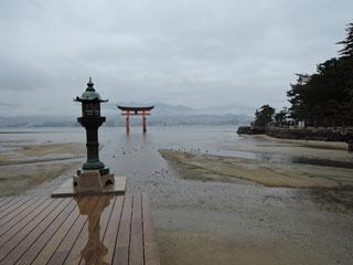 雨の厳島神社