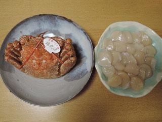 毛ガニ・ホタテ